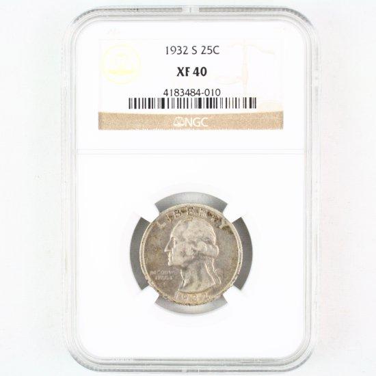 Certified 1932-S U.S. Washington quarter