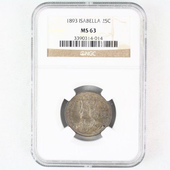 Certified 1893 U.S. Isabella commemorative quarter