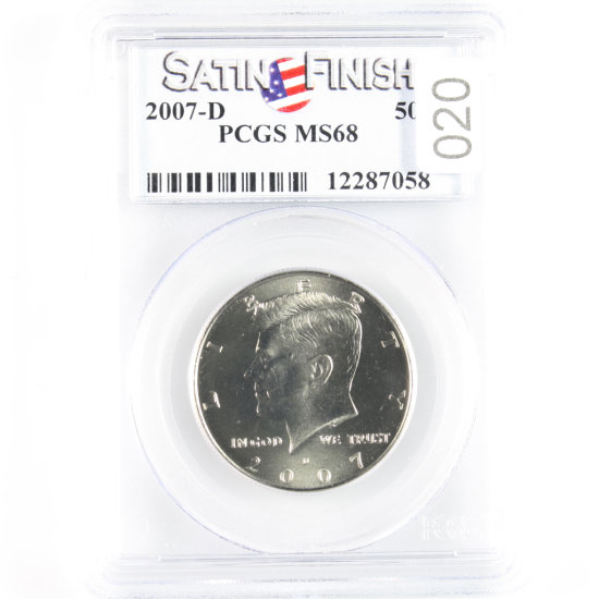 Certified 2007-D U.S. Kennedy half dollar