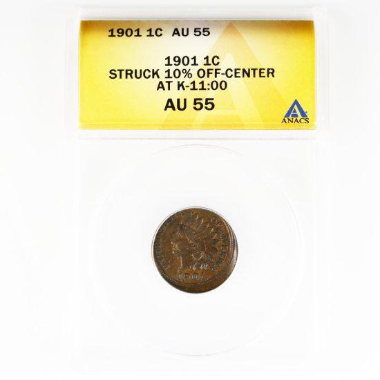 Certified 1901 error U.S. Indian cent