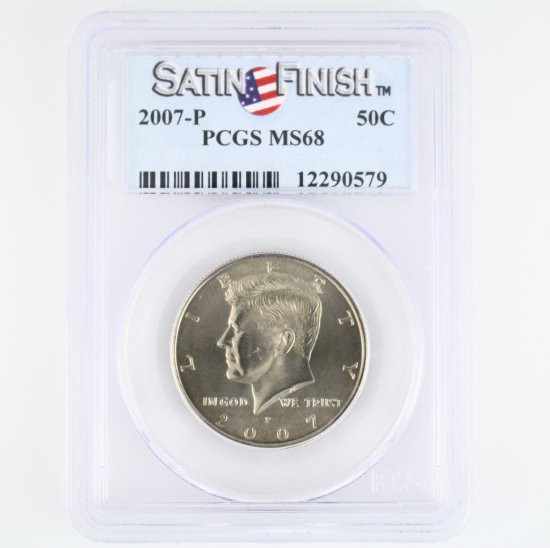 Certified 2007-P U.S. Kennedy half dollar
