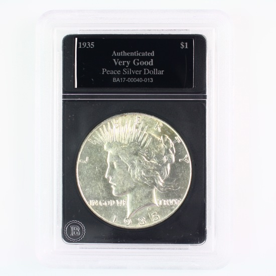 1935 U.S. peace silver dollar