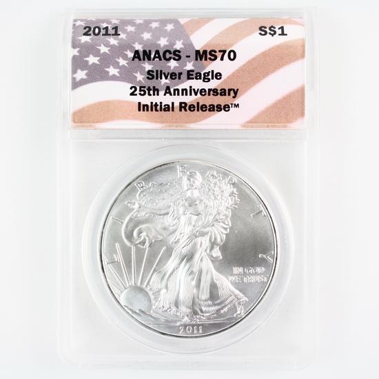Certified 2011 U.S. American Eagle silver dollar