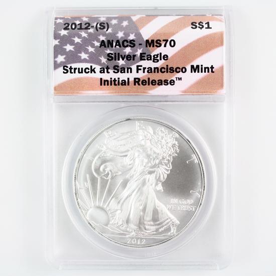 Certified 2012(-S) U.S. American Eagle silver dollar