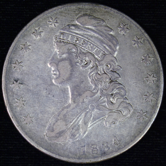 1834 U.S. draped bust half dollar