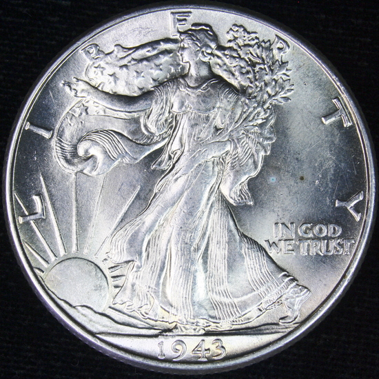 1943 U.S. walking Liberty half dollar