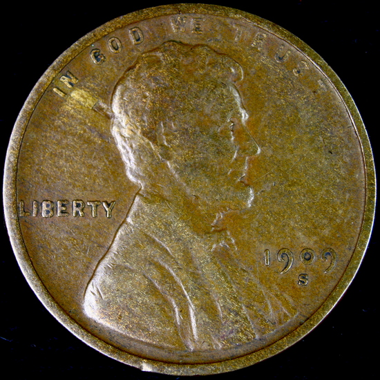 1909-S U.S. Lincoln cent