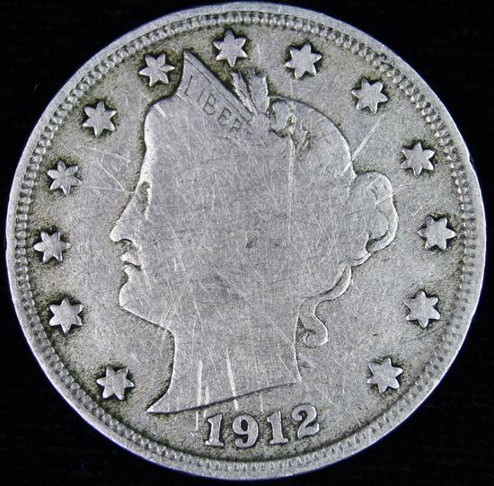 "1912-S U.S. ""V"" nickel"