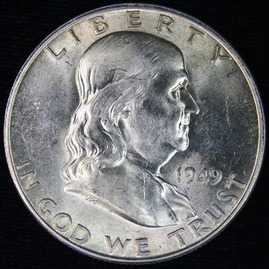 1949-D U.S. Franklin half dollar