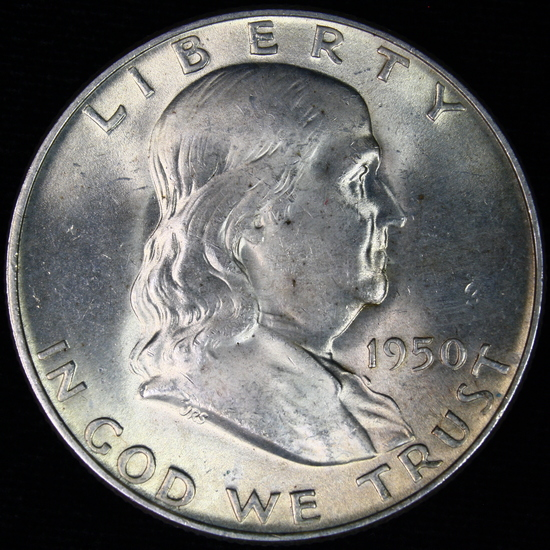1950-D U.S. Franklin half dollar