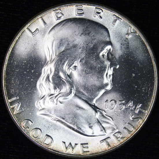 1954 U.S. Franklin half dollar