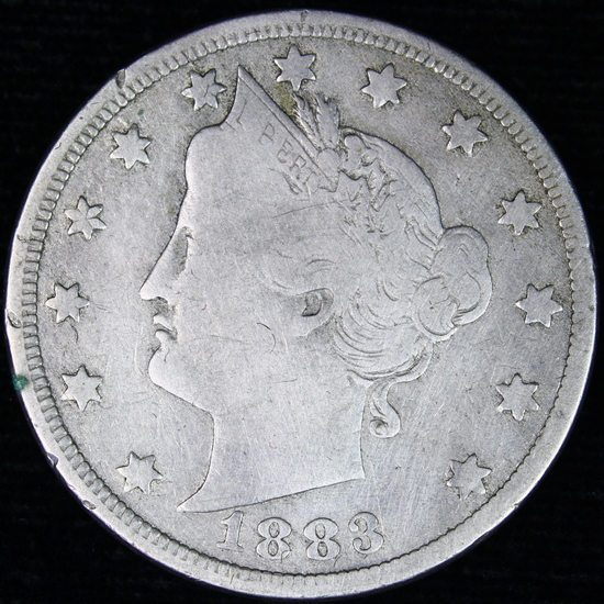 1883 with cents U.S. V nickel