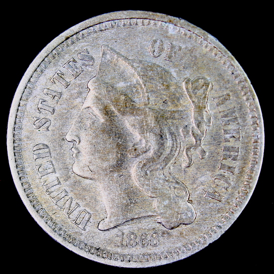 1868 U.S. 3-cent nickel