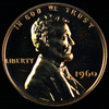 1960 small date U.S. proof Lincoln cent