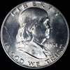 1951-D U.S. Franklin half dollar
