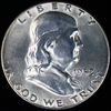 1952-S U.S. Franklin half dollar