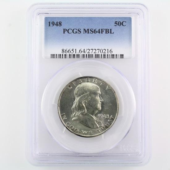 Certified 1948 U.S. Franklin half dollar