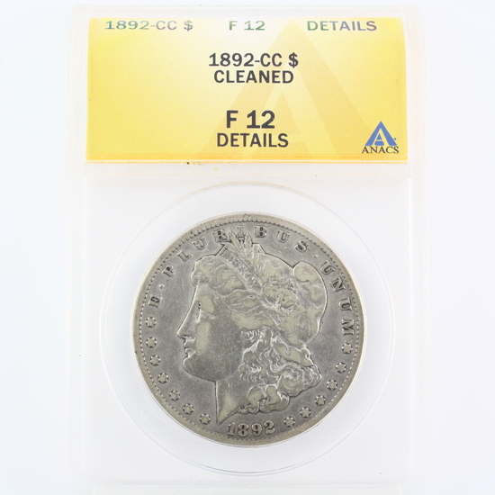 Certified 1892-CC U.S. Morgan silver dollar