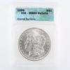 Certified 1896 U.S. Morgan silver dollar