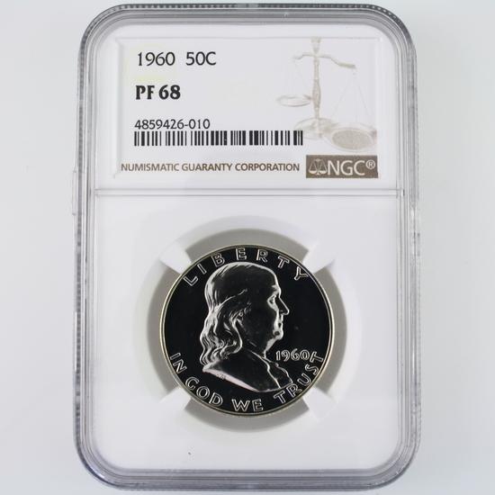 Certified 1960 U.S. proof Franklin half dollar