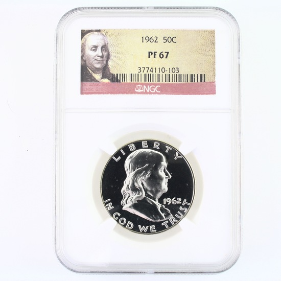 Certified 1962 U.S. Franklin half dollar