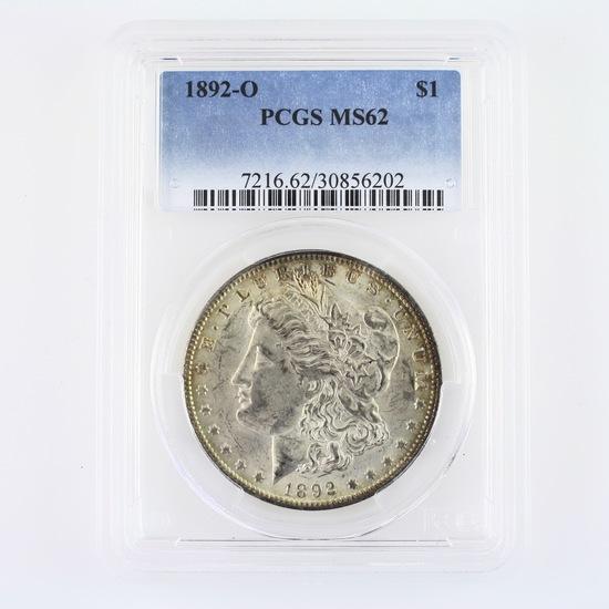 Certified 1892-O U.S. Morgan silver dollar