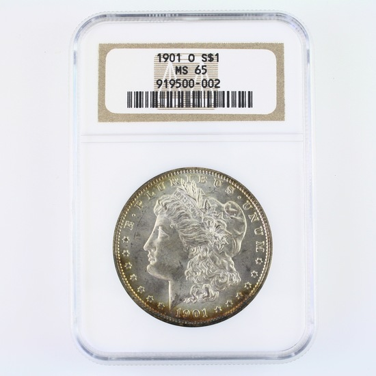Certified 1901-O U.S. Morgan silver dollar
