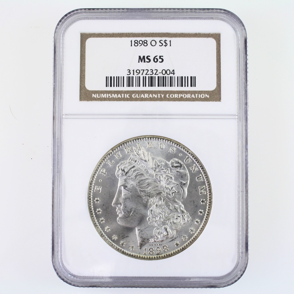 Certified 1898-O U.S. Morgan silver dollar