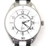 Estate Lucien Piccard Ceramic stainless steel wristwatch