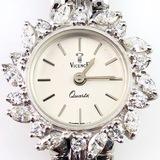 Estate Vicence 14K white gold diamond wristwatch