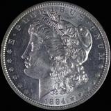 1884-O U.S. Morgan silver dollar