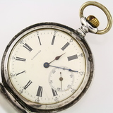 Circa Longines silver lever-set covered pocket watch