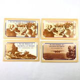 Complete 4-piece 1992 Marshall Islands $10 WWII commemorative coin set