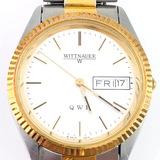 Estate Wittnauer QWR two-tone wristwatch