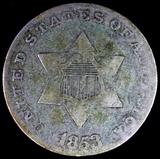 1853 U.S. 3-cent silver