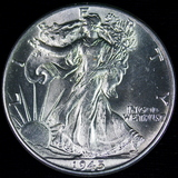 1945 U.S. walking Liberty half dollar