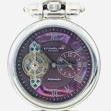 Estate Stuhrling Original Emperor stainless steel automatic wristwatch