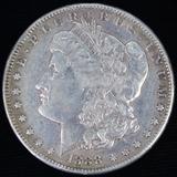 1888-S U.S. Morgan silver dollar