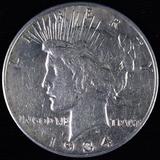 1934-S U.S. peace silver dollar