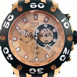 Estate Invicta Reserve stainless steel rose gold-tone chronograph wristwatch