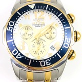 Estate Invicta Lupah two-tone stainless steel chronograph wristwatch