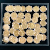 Lot of 53 encapsulated uncirculated U.S. Presidential dollar coins