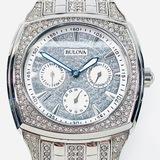 Estate Bulova stainless steel chronograph wristwatch