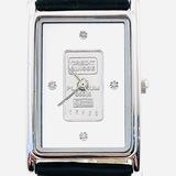 Estate Croton platinum-plated diamond wristwatch