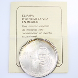 1979 Mexico official Papal visit 90% silver medal