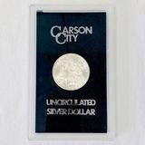 Certified 1883-CC GSA U.S. Morgan silver dollar