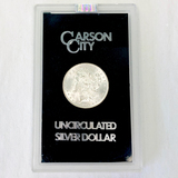 Certified 1891-CC GSA U.S. Morgan silver dollar