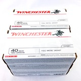 Lot of 300 rounds of boxed Winchester .40 S&W FMJ ammo