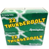 Lot of 1000 rounds of boxed Remington Thunderbolt .22LR 40 grain standard velocity solid point ammo