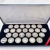 Complete 1985 proof British Virgin Islands silver